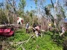 Aires de recuperación. Los trabajadores del Parque Nacional Caguanes se han volcado a las labores de recuperación. (Foto: Lauris Henriquez/ Escambray)