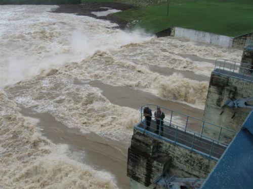 Debido a las prolongadas y torrenciales precipitaciones de los últimos días, mayo triplicó su media histórica para el mes y se convirtió en el más lluvioso de Sancti Spíritus. (foto: Vicente Brito)