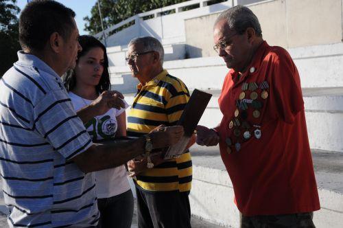 Conmemoran espirituanos 55 primaveras de la victoria. En el acto se reconoció la trayectoria de varios cuadros fundadores de la Asociación de Combatientes de la Revolución Cubana.