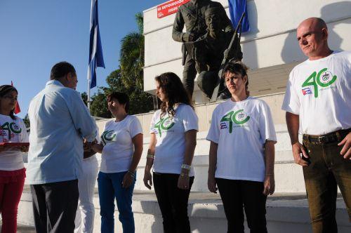 Conmemoran espirituanos 55 primaveras de la victoria. En el contexto de la celebración fueron entregados el sello conmemorativo Aniversario 40 de la constitución de la Fiscalía General de la República de Cuba.