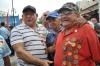 Caravana de la Libertad en Sancti Spíritus. Miles de pioneros, estudiantes, combatientes y pueblo en general, reunidos en el parque Serafín Sánchez, de Sancti Spíritus, celebraron este 6 de enero la entrada triunfal a esta ciudad de la Caravana de la Libertad encabezada por el Comandante en Jefe Fidel Castro.