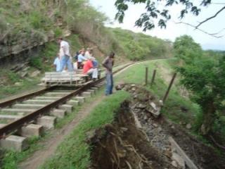 La vía férrea sufrió graves perjuicios
