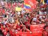 Autoridades de Latinoamérica presentes en acto de solidaridad con Chávez. Desde tempranas horas de la mañana, el pueblo venezolano se moviliza hacia el Palacio de Miraflores, en Caracas, en apoyo al presidente Hugo Chávez y en defensa de la Revolución Bolivariana.