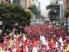 Autoridades de Latinoamérica presentes en acto de solidaridad con Chávez. Chávez está entre ellos, en las calles de Caracas y en el corazón de su pueblo.