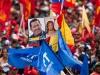 Autoridades de Latinoamérica presentes en acto de solidaridad con Chávez. Algunos atraviesan sobre su pecho la banda presidencial donde se lee: Yo soy Chávez.