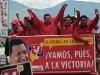 Chávez, una vida dedicada a la lucha por el pueblo. Hugo Chávez y los candidatos a la Asamblea Nacional del gobernante Partido Socialista Unido de Venezuela (PSUV) en la víspera de las legislativas, donde el oficialismo logró la mayoría de los escaños.