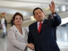 Chávez, una vida dedicada a la lucha por el pueblo. Hugo Chávez y la presidenta de Brasil, Dilma Rousseff, durante una reunión en el Palacio de Planalto, en Brasil.
