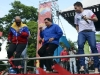 Chávez, una vida dedicada a la lucha por el pueblo. Chávez baila durante un acto de campaña electoral en Maracay.