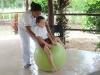 Probada eficacia de la equinoterapia en niños con diferentes discapacidades. Sesiones de fisioterapia, logopedia, terapia ocupacional y equinoterapia se prestan en este centro.
