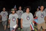 El 26 de los espirituanos. Integrantes de la brigada de solidaridad con Cuba, Juan Rius Rivero, acompañó a los espirituanos este 26 de Julio. (Foto: Reidel Gallo/ Escambray)