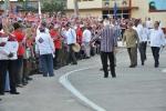 El 26 de los espirituanos. Momento de la llegada de Raúl Castro a la plaza Mayor General Serafín Sánchez Valdivia. (Foto: Reidel Gallo/ Escambray)