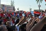 El 26 de los espirituanos. Más de ocho mil espirituanos participaron en el acto por el Día de la Rebeldía Nacional. (Foto: Reidel Gallo/ Escambray)