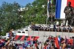 El 26 de los espirituanos. Las palabras de José Ramón Machado Ventura comenzaron con una felicitación al líder de la Revolución cubana, Fidel Castro, por su 90 cumpleaños. (Foto: Reidel Gallo/ Escambray)