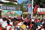 El 26 de los espirituanos. Artistas cubanos de la plástica pintaron un mural alegórico a Fidel, durante el acto central nacional por el aniversario por el 26 de Julio en la Plaza Mayor General Serafín Sánchez. (Foto: Reidel Gallo/ Escambray)