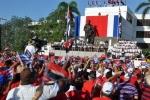 El 26 de los espirituanos. La plaza Mayor General Serafín Sánchez Valdivia fue testigo del júbilo espirituano por la conmemoración aquí del aniversario 63 del Asalto al Cuartel Moncada. (Foto: Reidel Gallo/ Escambray)