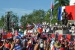 El 26 de los espirituanos. Artistas profesionales y aficionados regalaron una mañana patriótica al pueblo de Cuba este 26 de Julio. (Foto: Reidel Gallo/ Escambray)