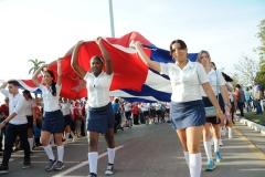 El desfile en Sancti Spíritus. Los jóvenes estuvieron presentes en las plazas espirituanas este Día Internacional de los Trabajadores. (Foto: Vicente Brito/ Escambray)