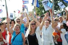 El desfile en Sancti Spíritus. Júbilo, alegría y fervor revolucionario caracterizaron el desfile por el Primero de Mayo en Sancti Spíritus. (Foto: Vicente Brito/ Escambray)