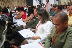 El VII Congreso del Partido. Trabajo en comisiones durante el VII Congreso del PCC.