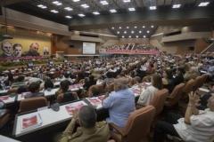 El VII Congreso del Partido. En Plenaria el VII Congreso del Partido Comunista de Cuba.