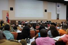 El VII Congreso del Partido. Los delegados debatieron la labor del Partido en el cumplimiento de los objetivos aprobados en la Primera Conferencia Nacional.