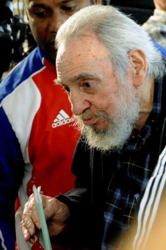 Líder histórico de la Revolución Cubana, Fidel Castro, ejerció su derecho al voto. El líder de la Revolución Cubana dialoga con la prensa después de ejercer su derecho al voto en las Elecciones Generales a diputados al Parlamento cubano y delegados a la Asamblea Provincial del Poder Popular