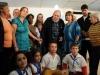 Fidel sobre el bloqueo: Cincuenta años y no han podido derrotarnos. Fidel junto a los miembros de la mesa electoral