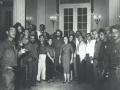 En la antigua Sociedad El Progreso a su paso hacia la capital del país en enero de 1959.