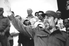 Fidel Castro en el acto del 26 de julio de 1986