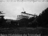 Imagen del puente sobre el río Agabama en plena etapa constructiva.