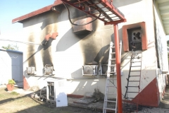 Incendio en el centro transmisor de San Isidro