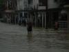 Las intensas lluvias han provocado inundaciones en el centro de la ciudad de Yaguajay. (foto: Oscar Alfonso)