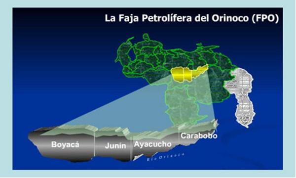 La faja abarca más de 55 000 kilómetros cuadrados en cuatro estados de Venezuela.