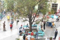 La literatura inunda a Sancti Spíritus. El parque Serafín Sánchez a disposición de los lectores durante la XXV Feria del Libro en Sancti Spíritus. (Foto: Aracelia del Valle/ Escambray)
