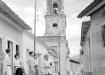 La Trinidad de antaño. Durante la República fue demolida parte de la estructura original de la iglesia y el convento de San Francisco de Asís.