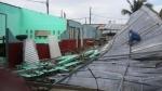 Lo que Irma nos dejó. La torrefactora de café de Cabaiguán también sufrió la furia de Irma. (Foto: Aramís Fernández/ Escambray)