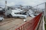 Lo que Irma nos dejó. Así quedaron las instalaciones del nuevo centro integral porcino de Carbó, tras el paso del huracán. (Foto: Oscar Alfonso/ Escambray)