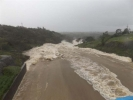 Lo que Irma nos dejó. La presa Tuinucú llegó a acumular el 140 por ciento de su capacidad. (Foto: Aramís Fernández/ Escambray)