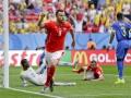 Mundial de fútbol Brasil 2014. Suiza empata el juego en las postrimerías y define ante Ecuador en tiempo de descuento.