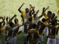 Mundial de fútbol Brasil 2014. Colombia bailó a ritmo del primer gol.
