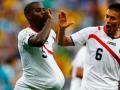 Mundial de fútbol Brasil 2014. Costa Rica soprendió a Uruguay y sacó tres puntos en una de las llaves más difíciles.