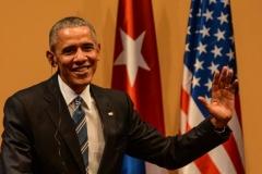 Obama en Cuba. Obama durante la conferencia de prensa, luego de las conversaciones oficiales con Raúl. (Foto: ACN)