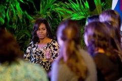 Obama en Cuba. Michelle Obama conoció acerca de experiencias educacionales en Cuba. (Foto: AP)