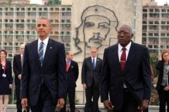 Obama en Cuba. El presidente norteamericano rindió tributo al Héroe Nacional José Martí. (Foto: ACN)