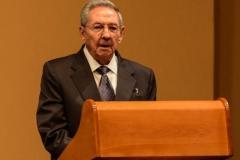 Obama en Cuba. Raúl durante la conferencia de prensa, luego de las conversaciones oficiales con Obama. (Foto: ACN)