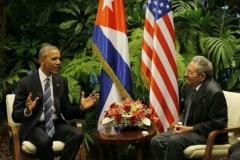 Obama en Cuba. Obama y Raúl durante las conversaciones oficiales. (Foto: Ismael Francisco)