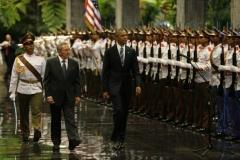 Obama en Cuba. Recibimiento oficial al presidente de Estados Unidos, Barack Obama. (Foto: Ismael Francisco)