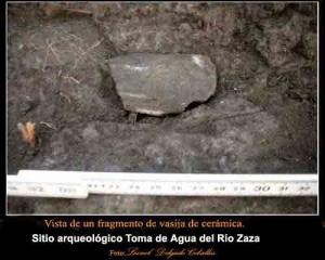 El sitio arqueológico Toma de Agua del Río Zaza posee valores científicos y arqueológicos por haber sido lugar de asentamiento de las culturas aborígenes de las comunidades mesolíticas y neolíticas.