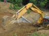 La persistencia de las lluvias ha conspirado contra el ritmo de las reparaciones.