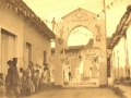 Calle engalanada durante el Santiago Espirituano.
